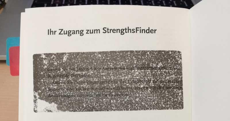 StrengthFinder Kein Code